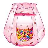 最安|評価は?LeHom ボールプール ベビーサークル 折り畳み式 コンパクト 収納バッグ付き 屋内遊具 室内室外 ・ (ピンク)