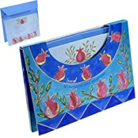 Rosh Hashanah Gifts - Yair Emanuel 10 NOTELETS WITH ENVELOPES POMEGRANATES (L...