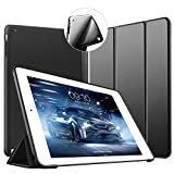VAGHVEO iPad 2/3/4 ケース 超薄型 超軽量 TPU ソフトスマートカバー オートスリープ機能 衝撃吸収 三つ折りスタンド 全7色 for Apple iPad 4世代、新iPad 3(3rd Gen)&iPad 2 ブラック