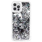 グルマンディーズ ピーナッツ iPhone12/12 Pro(6.1インチ)対応 グリッターケース ジョー・クール SNG-563B ブラック