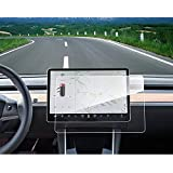 """Tesla Model 3 Center Control Touch Screen Car Navigation Tempered Glass Screen Protector, 9H Anti-Scratch and Shock Resistant for Tesla Model 3 Screen Cover P50 P65 P80 P80D 15"""""""