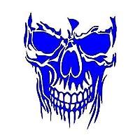 車のステッカー 車反射車のステッカーの頭蓋骨車のステッカーの恐怖 バンパー用カーステッカー (Color : Blue)