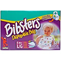 Bibsters Large Disposable Bibs - Multi - Unisex - 32 ct by CuteMch