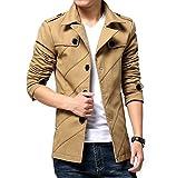 (Make 2 Be) スタイリシュ メンズ ジャケット テラード ジャケット コート アウター ビジネス カジュアル 冬 防寒 スリム から 大きいサイズ M L XL 2XL 3XL LL 3L 4L MA02 (12.ベージュ_XLサイズ)