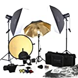 Square Perfect 5080 SP3500 FLASH KIT Complete Portrait Studio Kit with Flashes Softboxes Gels and Barn Door [並行輸入品]