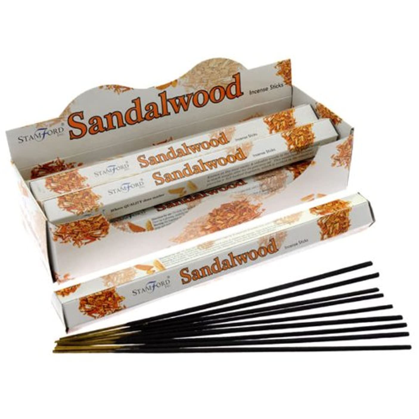まどろみのあるロンドンパテStamfordプレミアムHex範囲Incense Sticks – サンダルウッド37107