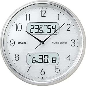 CASIO (カシオ) 掛け時計 WAVE CEPTOR ウェーブセプター 電波時計 カレンダー表示 温度表示 湿度表示 ITM-600J-7JF