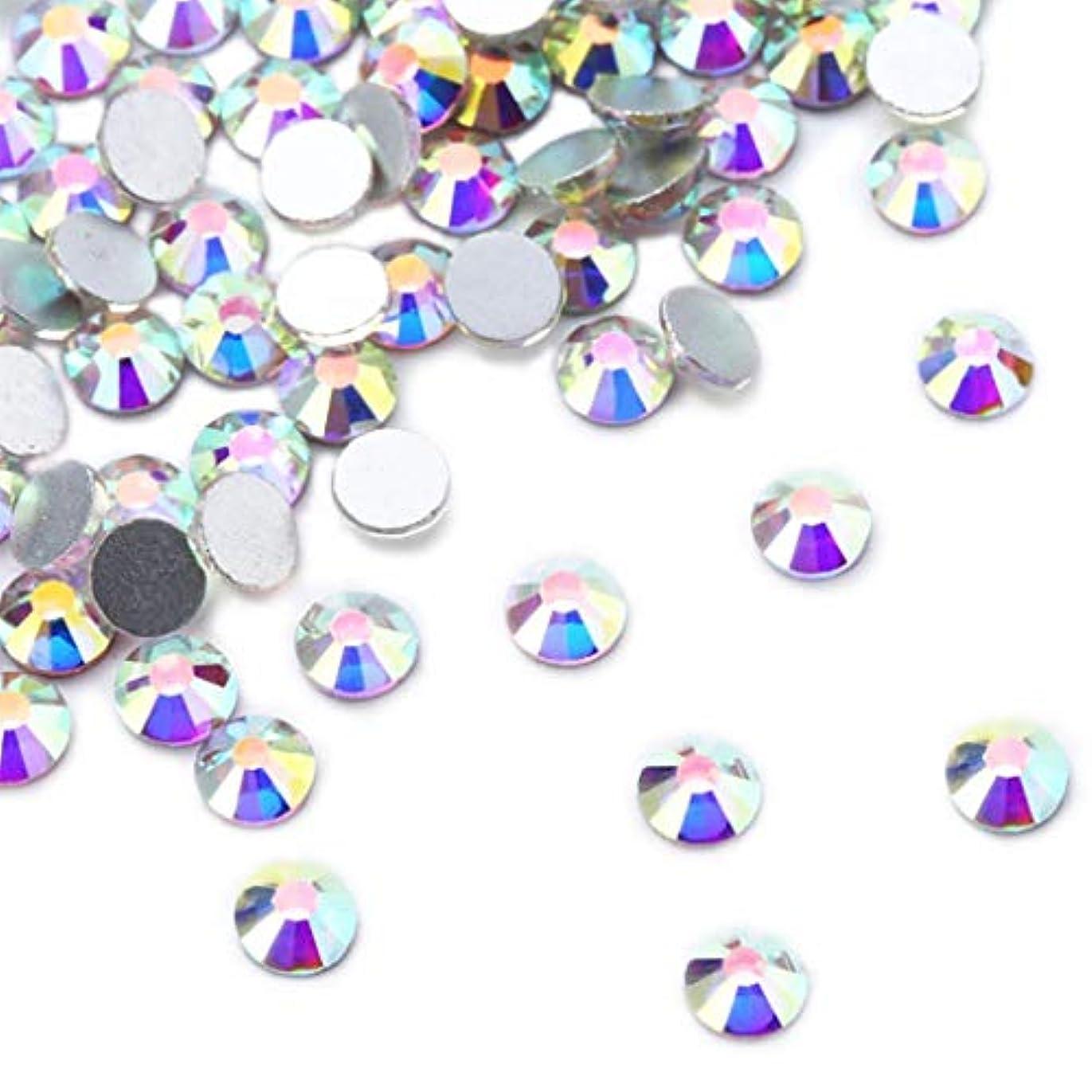 雄大なのフォローXIULIラインストーン DIY ネイルを飾てと服装使用 高い採光 ホワイトAB ss3-30 (4.0mm ss16(1440粒), AB)