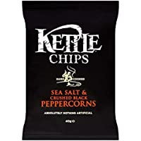 Kettle Chips - Sea Salt with Crushed Black Peppercorns (40g) 砕いた黒胡椒と海塩( 40グラム) - ケトルチップス