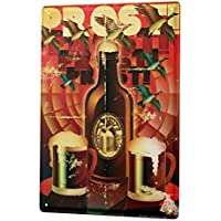 Beer Tin Sign ブリキ看板 Nostalgic Decoration Beer bottle mugs Cheers Wall Plate