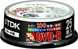 TDK 超硬UVガードDVD-Rデータ用 1-8倍速対応ホワイトプリンタブル(ワイド)25枚パック [DVD-R47HCPWX25PK]