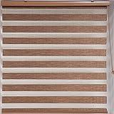 Best ホームカーテンSheers - ekbinnovations Upscale Designs Zebra Sheer Stripedブラウンローラーブラインド 42 in.x78 Review
