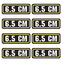 6.5CM弾薬ステッカー8パック–ラミネートCanボックスビニールデカールBullet Army Gun安全Huntingラベル