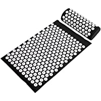 BalanceFrom Acupressure Mat and Pillow Set for Back andネックPain Relief andマッスルリラクゼーションマッサージ