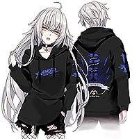 Fate/Grand Order Alter ジャンヌ・ダルク/オルタ 印象パーカー コスプレ衣装 男女兼用 秋冬服 (Alter ブルー,XL)