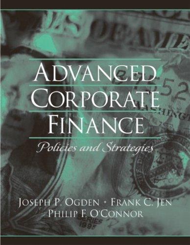 Download Advanced Corporate Finance 0130915688