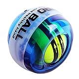 リストボール オートスタート発光2017年版 自動回転モデル 握力 筋力トレーニング (ブレー(発光))