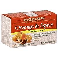 Bigelow Tea - ハーブティーすべて天然カフェイン無料オレンジ&スパイス - 1ティーバッグ