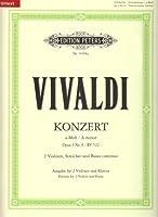 """Konzert a-Moll op. 3, Nr. 8 RV 522: aus """"L'estro armonico"""" / fuer 2 Soloviolinen, Streicher und Basso continuo"""