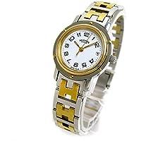 [エルメス]Hermes 腕時計 クリッパー ゴールドコンビ 3rd 3針モデル 白文字盤 クリーニング済み レディース 中古