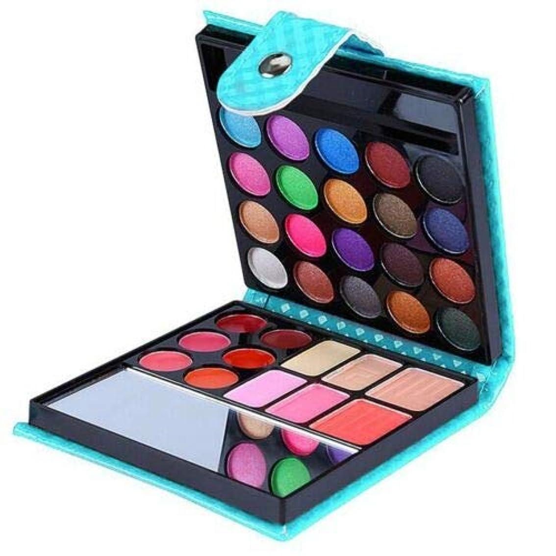 論争的ドレイン金銭的FidgetGear 32色化粧品マットアイシャドークリームアイシャドーメイクアップパレットシマーセット 青