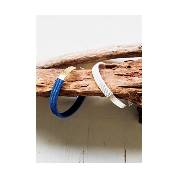 185038 コットン&メタルバングル ブルー...の紹介画像6