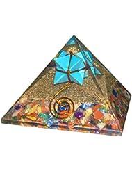 crocon Mix Chakra Gemstone Orgone Pyramid withターコイズMerkabaエネルギージェネレータのオーラクレンジング、レイキHealing、チャクラバランシングsize- 3 –...