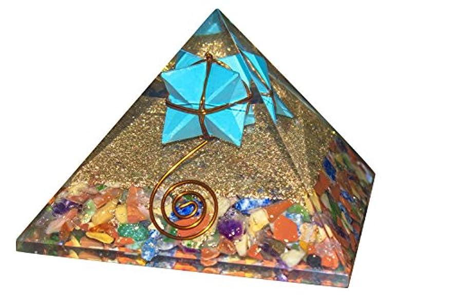 壊す資本ためらうcrocon Mix Chakra Gemstone Orgone Pyramid withターコイズMerkabaエネルギージェネレータのオーラクレンジング、レイキHealing、チャクラバランシングsize- 3 –...