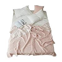 夏布団 シングル オシャレ 毛布 掛け布団 薄い布団 エアコン毛布 洗える 三角柄 ピンク