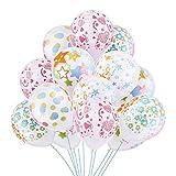 パーティー 飾り バルーン 風船 可愛い 白い 図案5種 一種6個入り 計30個セット