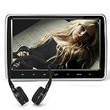 Pumpkin 10.1インチ デジタル TFT ヘッドレスト モニター DVDプレーヤー USB/SD HDMI対応 1024x600 高画質 スピーカー内蔵 簡単に取り付け可能 ヘッドホン1個付き