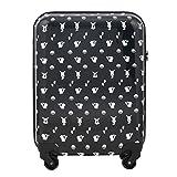 (ポケモン) POKEMON キャリーケース スーツケース キャラクター ビジネス 機内持ち込み可 TSAロック ファスナータイプ 4輪 37L 2日 3日用 51.5cm Mサイズ PK-003 (ブラック)