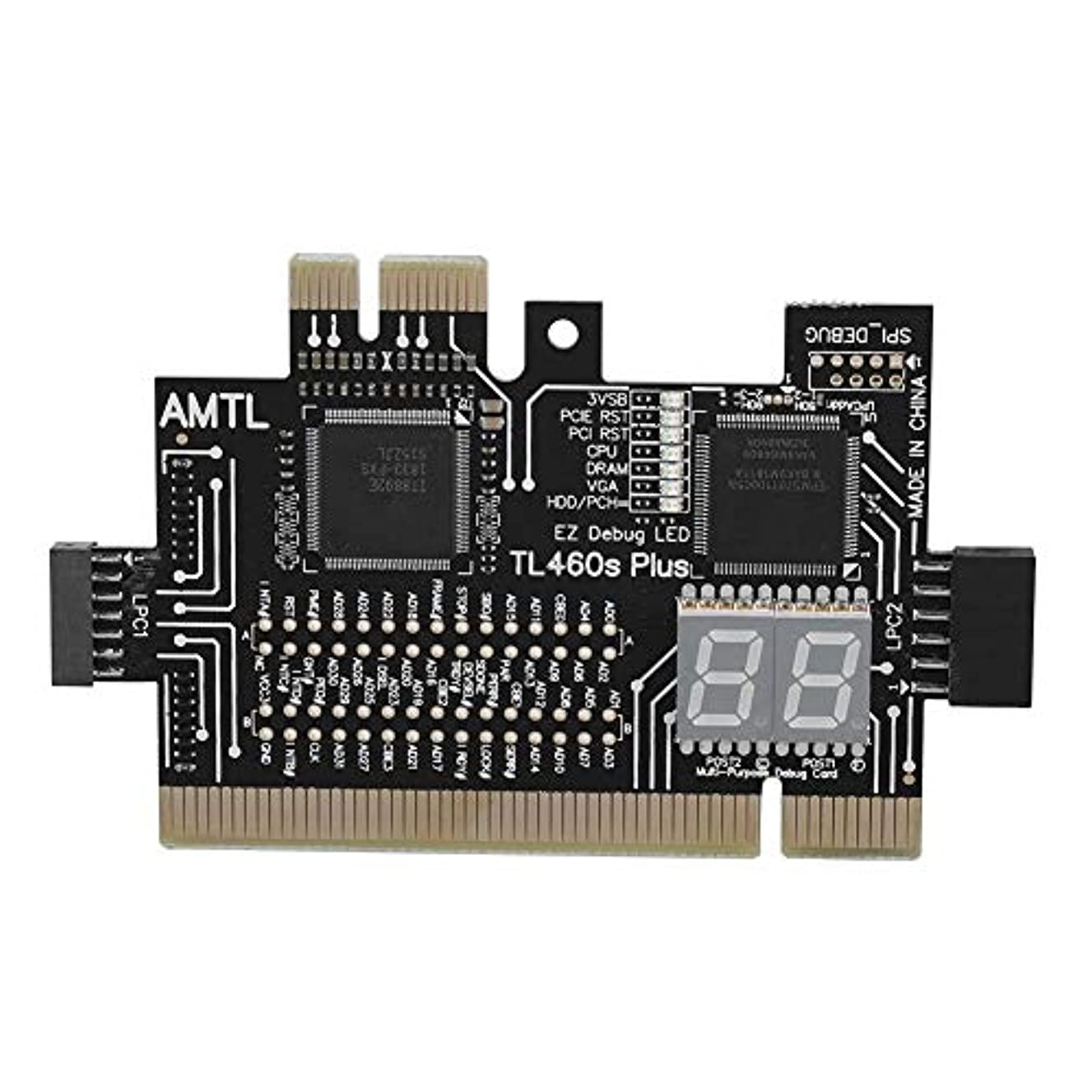 スマイル告発者組み合わせRicher-R PCマザーボード診断カード マザーボードPCI/PCIE/ミニPCIE/LPC PCアナライザ診断カード マザーボードテスター/チェッカー PCIテストカード PCI診断カード ノートPC/ラップトップ/デスクトップ用