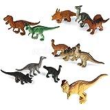プラスチック爬虫類動物恐竜モデルおもちゃ12pcsマルチカラー