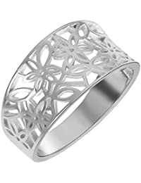 CloseoutWarehouse Sterling Silver Victorian Leaf Filigree Vintage Style Ring (Color Options, Sizes 3-15)