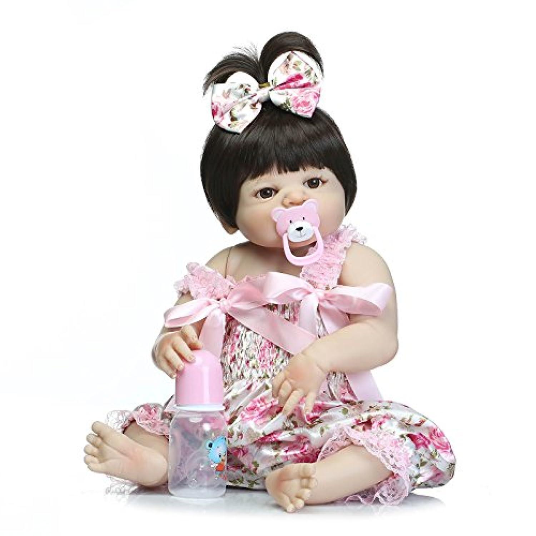 Herin Rebornベビー人形、Lovely Collectibleフルシリコンビニール新生児Bath幼児Girl Toy