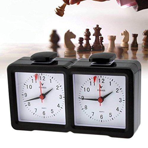 (inkint) アナログ 対局時計 将棋 囲碁 チェス オセロ バックギャモン ボードゲームに最適 囲碁タイマー 囲碁対局時計 計時器 タイマー 普通の時計も可能 スタイリッシュ ポータブル 丈夫耐久