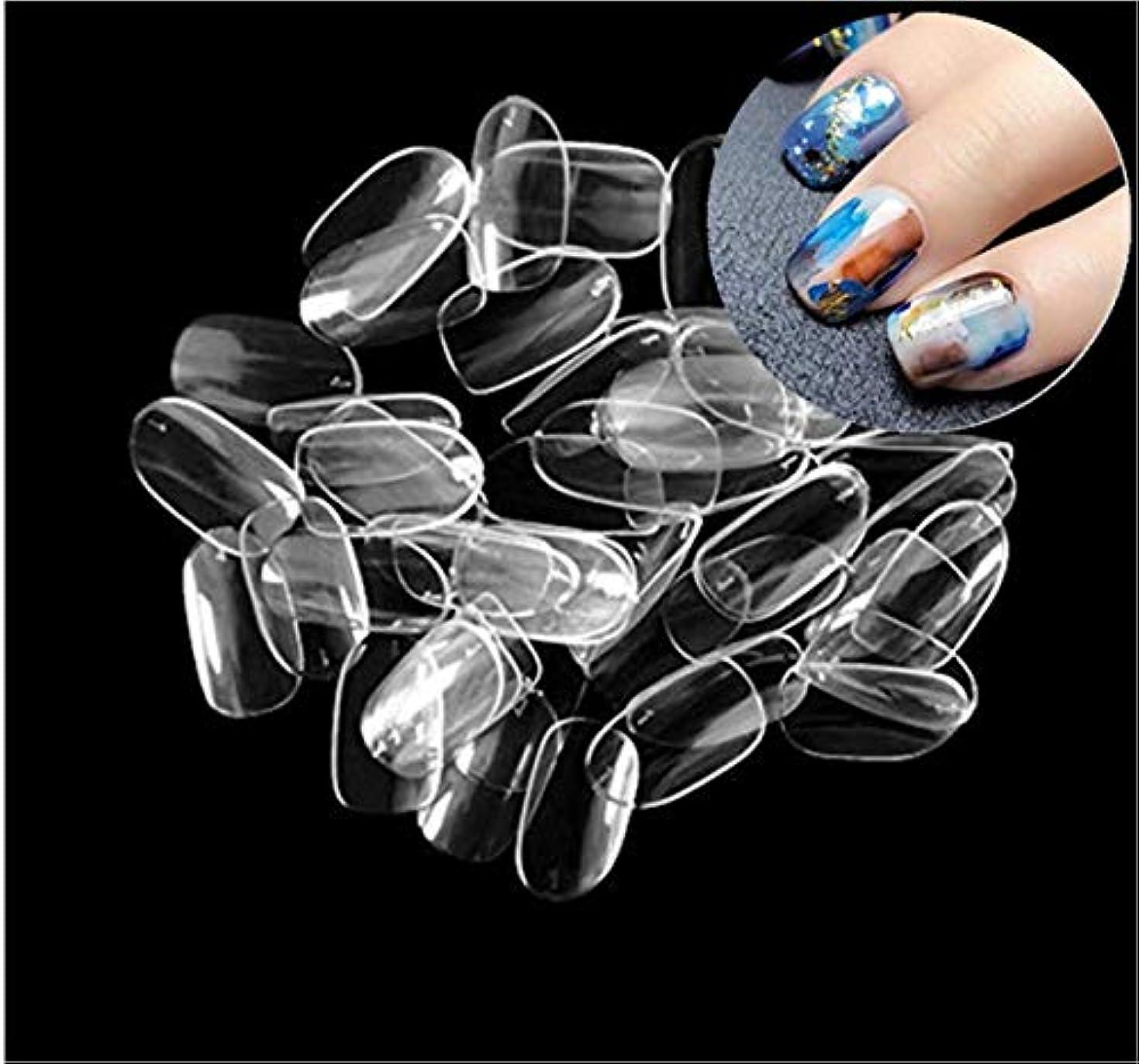 累計寄付指標ネイルチップ つけ爪 ネイル用品 10種のサイズ ネイル飾り デコレーション 無地 付け爪 オーバルフルカバー DIYネイル 500枚入り透明