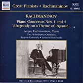 ラフマニノフ:ピアノ協奏曲第1番/同第4番/パガニーニの主題による狂詩曲