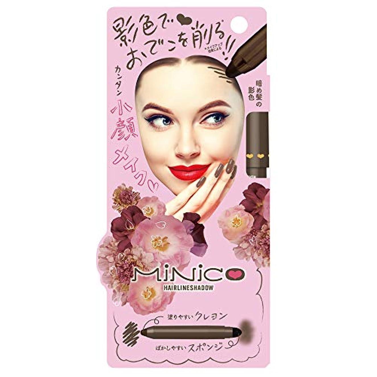 マトロンクローン豆ミニコ ヘアラインシャドウ 01: 暗め髪の影色 化粧下地 1本