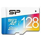 シリコンパワー microSDXCカード アダプタ付 128GB UHS-1対応 【最大読込75MB/s】 防水 防塵 耐X線 永久保証 Eliteシリーズ SP128GBSTXBU1V20NE