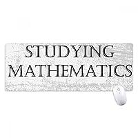 数学を勉強している短いフレーズ ノンスリップゴムパッドのゲームマウスパッドプレゼント