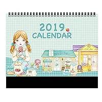 小さなマンスリーカレンダー 学年 デスクカレンダー 2018-2019 デスクスケジューラー -A17
