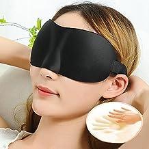 Lightweight and Comfortable, Super Soft, Adjustable 3D Contoured Eye Masks for Sleeping, Shift Work, Naps, Night Blindfold Eyeshade for Men and Women, Black
