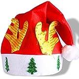 HuaQingPiJu-JP クリスマスデコレーションゴールデンアントラーズクリスマスハット_Red