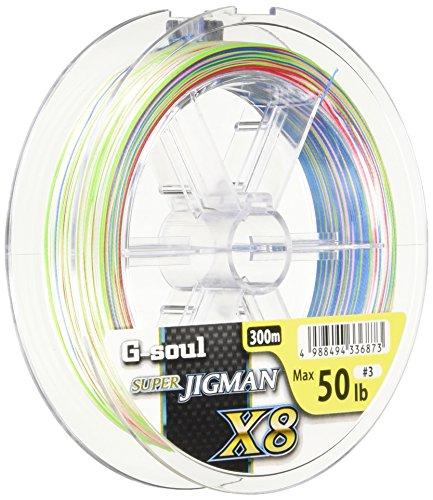G-soul X8 スーパージグマン 5色 1号 20lb 8本 300m