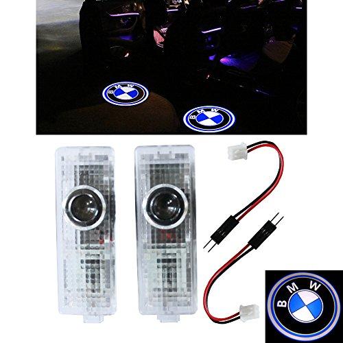 ZNYLSQ LEDドアカーテシランプ レーザーロゴライトドアウェルカムライト カーテシライト LED投影2個セット BMW 3 5 7 シリーズ...