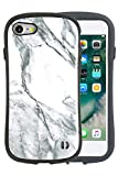 iPhone X ケース iFace First Class Marble 耐衝撃 正規品 ストラップホール / ホワイト
