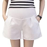 (ティアナ23)Tianna23 マタニティ ショート キュロット パンツ 綿 ホワイト L