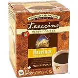 Teeccino ハーバルコーヒー ヘーゼルナッツ ミディアムロースト カフェインフリー 10ティーバッグ [並行輸入品]